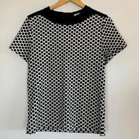 Marni Womens Black White Polka Dot Cotton Top M A10-25
