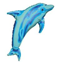 "37"" Blue Dolphin Mylar Foil Balloon Party Decorating Supplies"