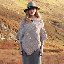 Ladies Wool Poncho, 100% Irish Merino Wool - A200
