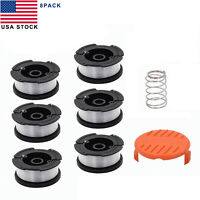 "Black & Decker AF-100 30ft .0065"" Grass Trimmer Replacement Spool Line+Cap Cover"