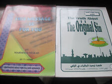 ISLAM 2 SMALL BOOKS  THE TRUTH ABOUT THE ORIGINAL SIN  & THIS MESSAGE IS FOR YOU