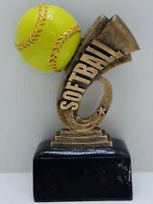 """Softball trophy varsity sport full color resin award 6"""" ( 00030)"""