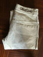 Pantaloni Kappa pants no shorts trouser beige cotton size XS 100% cotton