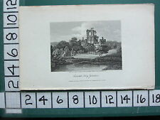 1808 DATED ANTIQUE YORKSHIRE PRINT ~ KIRKSTALL ABBEY