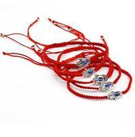 5pcs Red String Hamsa Hand Evil Eye Lucky Kabbalah Boho Festival Chic Bracelet