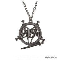 Official Alchemy SLAYER Necklace Pendant Metal PENTAGRAM Logo Chain