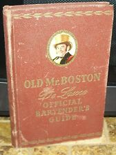 1951 Old Mr. Boston DeLuxe Official Bartending Guide Hb w/extras