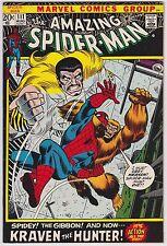 Amazing Spider-Man #111 F+ 6.5 Kraven The Hunter The Gibbon John Romita Art!