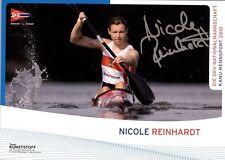 Nicole Reinhardt Sport Kanu Sport Olympiade Autogrammkarte AK TOP NEU 719 UH