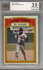 """1972 Topps Atlanta Braves Hank Aaron In Action """"So you're a baseball..."""" BGS 3.5"""