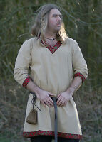 Viking Tunic from Cotton, natural-coloured - medieval - living history - LARP