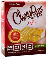 ChocoRite - Yellow Cake High Protein Bars Low Calorie, Low Sugar, 5ct