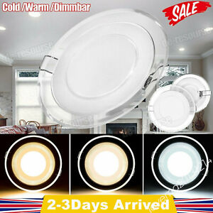LED Ceiling Down Light 5W Panel Wall Kitchen Bathroom Lamps Round Cool White MA