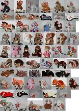 #07 Ty-Beanie Baby Beanies (Stuffed Toy) Horse, Pig, Mouse, Rat, Hedgehog Select