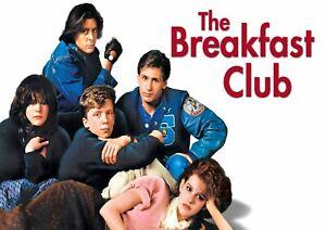 The Breakfast Club Movie Poster Print A6 A5 A4 A3 A2 A1 A0