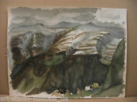 "Horst Heinen (1927-2001), Aquarell ""Gletscher auf den Alpen"""