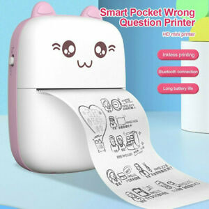 Mini Pocket Thermal Printer Bluetooth Phone Label Receipt Photo Printing Machine