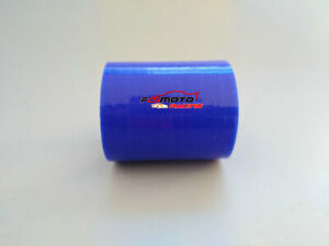 ID 4''inch 102mm LH 3''inch 76mm Straight Joiner Coupling Silicone Hose BLUE