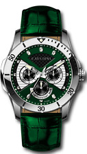Luxury Men's Designer Watch from the Home Cavadini Full Calendar IN Green