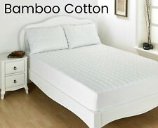 BAMBOO Cotton Hypo-allergenic Luxury Quilted Mattress Protector - Double / King