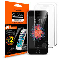 Spigen® Apple iPhone 5/5S/SE [GlastR SLIM]Shockproof Glass Screen Protector[2PK]