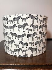 Zebra Print 30cm Ceiling Shade in Cotton Fabric