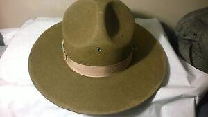 Vintage Drill Instructor Hat - Drill Sergeant Hat