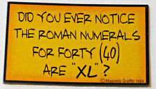Did You Ever Notice the Roman Numerals for Forty Magnetic Graffiti fridge magnet