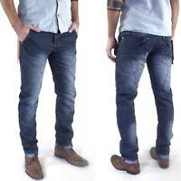 Justboy Herren Designer Slim Skinny Fit Röhren Jeans Hose mit Ziernähten
