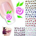 Multi Styles Flower Stickers Manicure Tips Nail Art Water Transfer Decals Decor