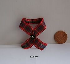 DOLLS HOUSE MINIATURE SCOTTISH TARTAN SASH OR SHAWL