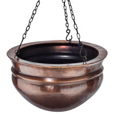 GAR569S H Potter Brass Patio Deck Hanging Planter Outdoor Decor Flower Box Art