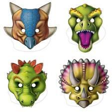 8 dibujos animados Dino Dinosaurio Prehistórico Fiesta de cumpleaños sombreros de cono de papel