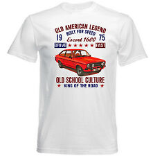 VINTAGE AMERICAN FORD ESCORT 1600 1975 - NEW COTTON T-SHIRT