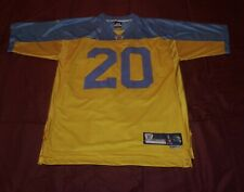 Vintage football jersey/ #20 brian dawkins yellow and blue throw back jersey