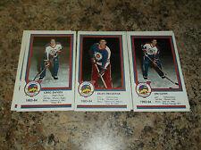 1983-84 VICTORIA COUGARS DEAN DROZDIAK WHL PLAYER CARD