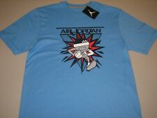 "Nike Jordan ""Flight Team Character"" T-Shirt University Blue Mens Medium Large XL"