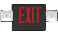 LED Double Face Black Combo Exit Sign