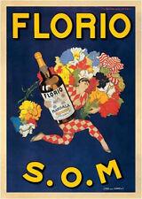 Florio, 1915 S.O.M Marcello Dudovich Art Print Vintage Wine Bar Poster 23.5x31.5