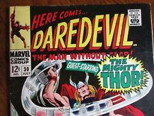 Marvel   Daredevil # 30  THOR app.!  1967