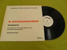 Stockhausen Momente Fur Sopran 4 Chorgruppen - RARE Germany WERGO WER 60024 / EX