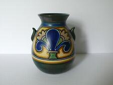 Dutch Holland Gouda DAMASCUS Large Art Pottery Vase