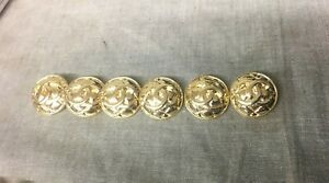Set of 6 Chanel Gold Buttons Unstamped