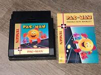 Pac-Man Tengen w/Manual & Sleeve Nintendo Nes Authentic