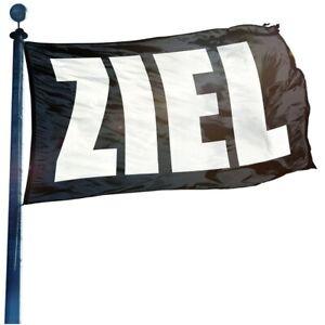 Ziel schwarz Hissflagge, Fahne, Werbefahne, Gartenfahne, 5 Größen