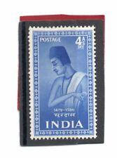 India GV1 1952 Saints/Poets 4a bright blue sg 340 HH.Mint