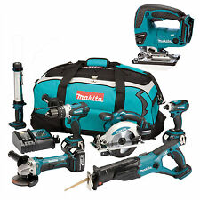 MAKITA 18V LXT LI ION DK18027 6 PIECE KIT AND DJV180 JIGSAW
