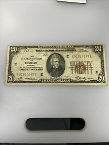 U.S. (Richmond, VA) - Series of 1929 $20.00 National Currency Banknote