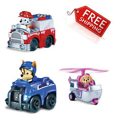 Paw Patrol Rescue Racers 3 Pack Vehicle Set, Marshall/Chase/Skye Kids Gift Xmas