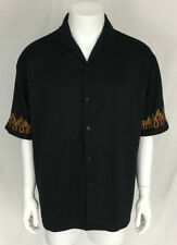 Sapphire Lounge Clothing Hot Rod Flames Mens Casual Dress Shirt X-Large XLG